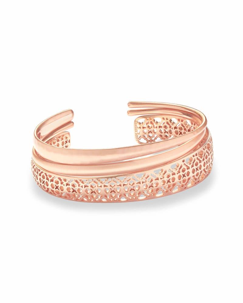 Tiana Rose Gold Pinch Bracelet Set in Rose Gold Filigree
