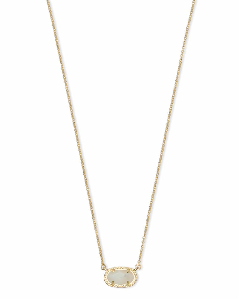 Ember Gold Pendant Necklace in Ivory Pearl