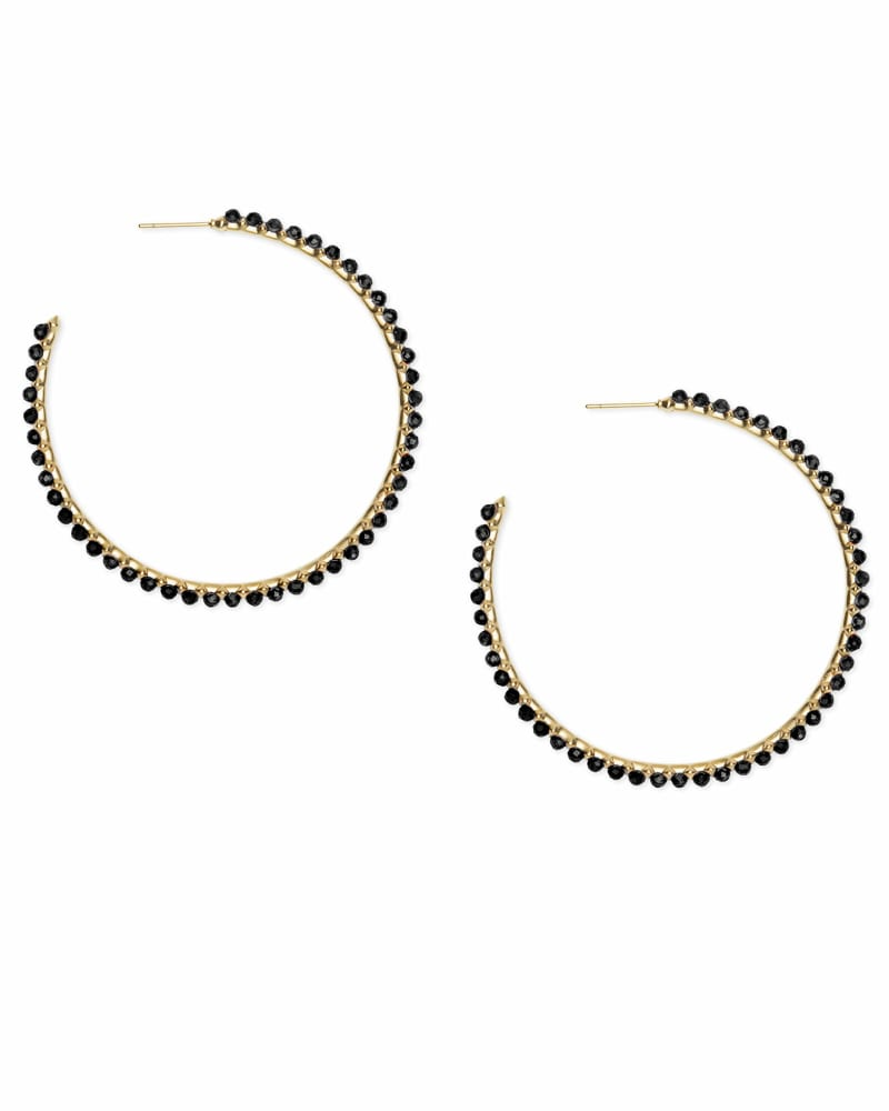 Birdie Gold Hoop Earrings
