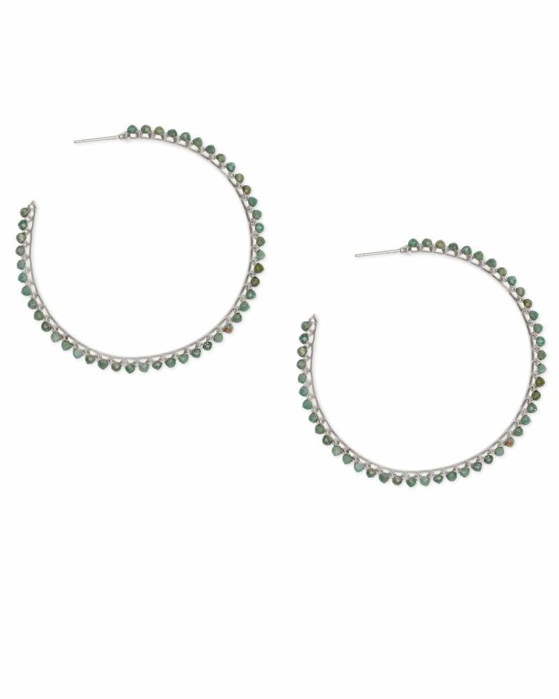 Birdie Silver Hoop Earrings