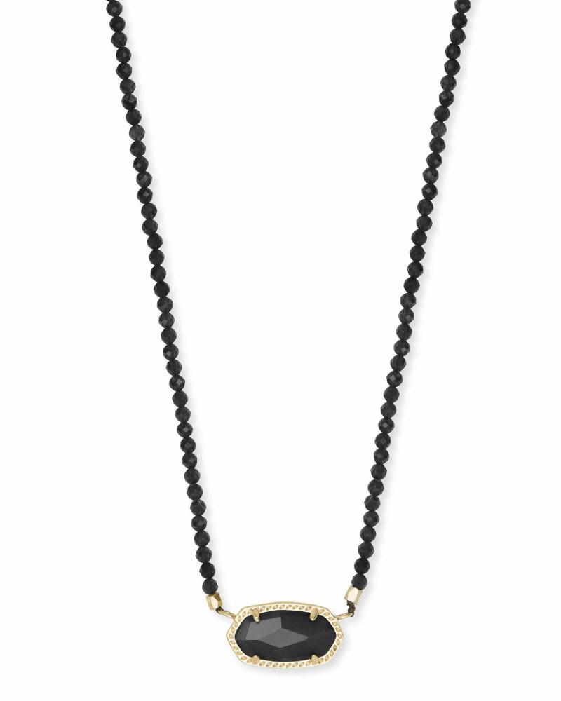 Elisa Gold Beaded Pendant Necklace