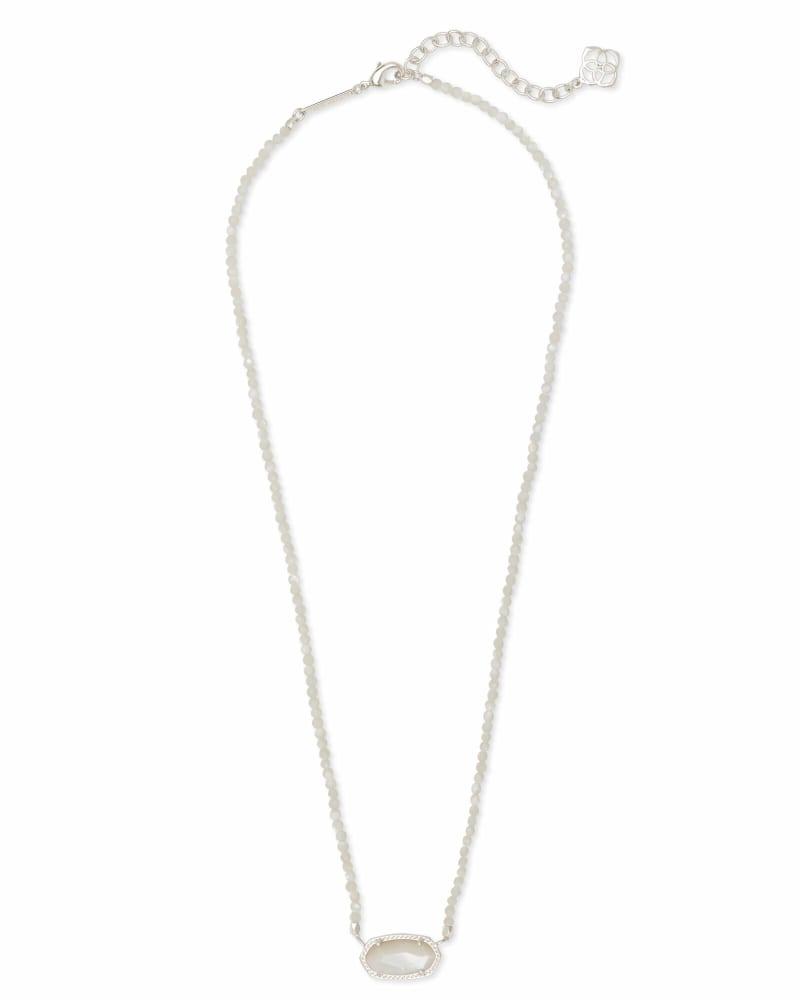 Elisa Silver Beaded Pendant Necklace