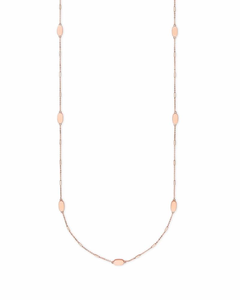 Franklin Long Necklace in Rose Gold