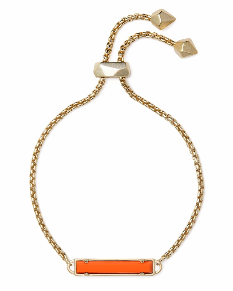Stan Gold Chain Bracelet In Orange