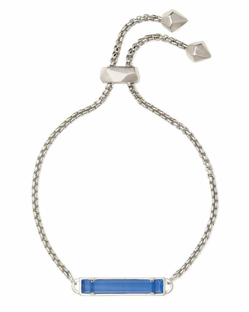 Stan Silver Chain Bracelet In Periwinkle Cats Eye