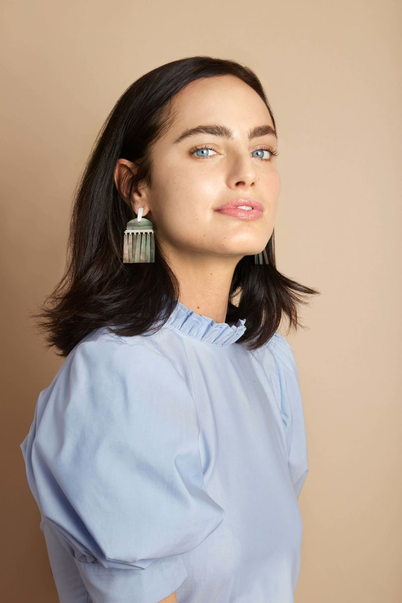 Layne Metallic Statement Earrings