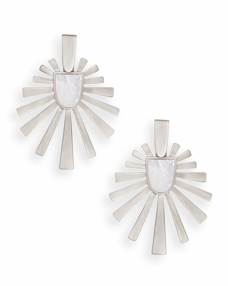 Cambria Statement Earrings in Silver