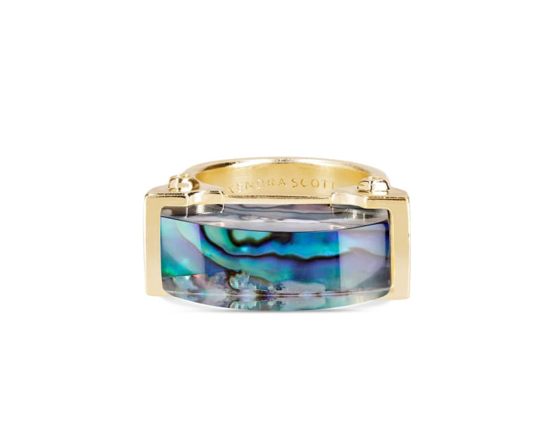 Jeanne Cocktail Ring in Abalone Shell - 8