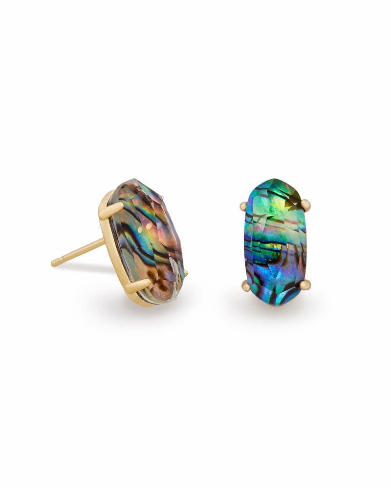 Betty Stud Earrings in Abalone Shell