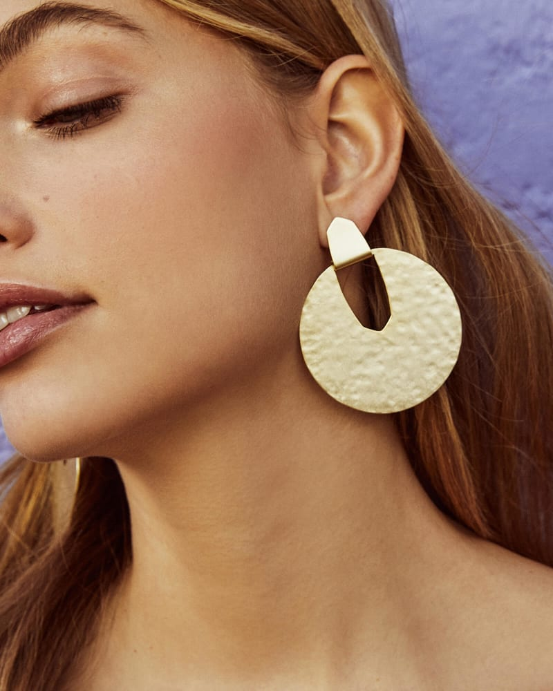 Diane Statement Earrings in Bright Silver