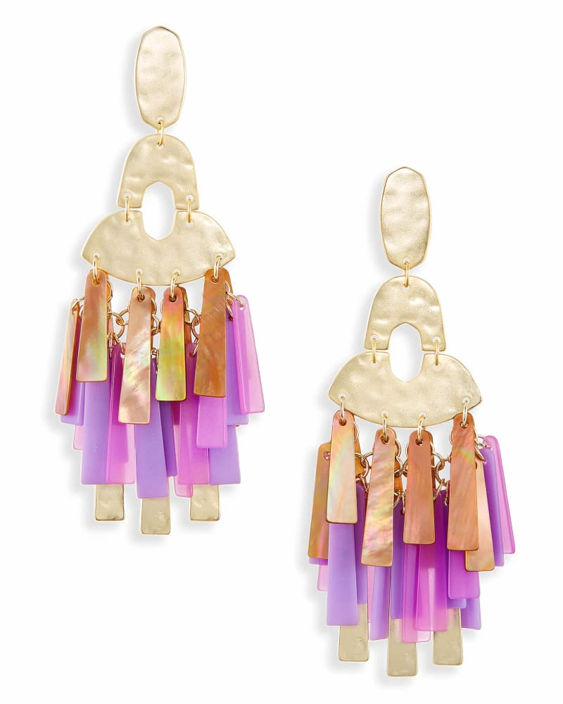 Kitty Statement Earrings in Blush Mix