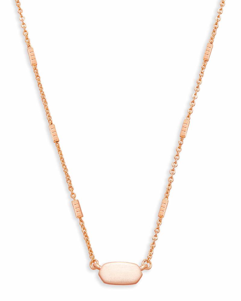Fern Pendant Necklace in Rose Gold   Kendra Scott