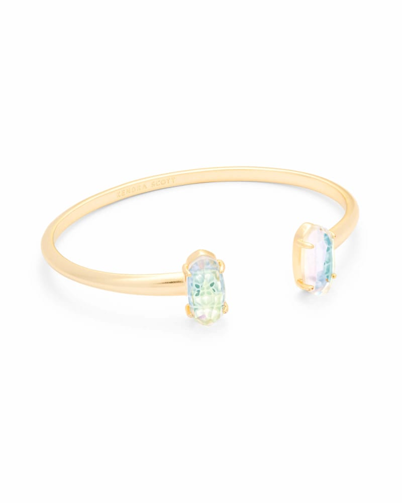 Edie Gold Cuff Bracelet in Dichroic Glass