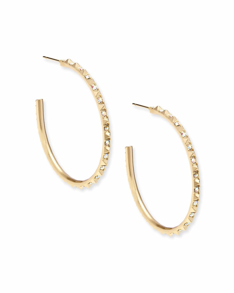 Veronica Hoop Earrings in Iridescent Crystal