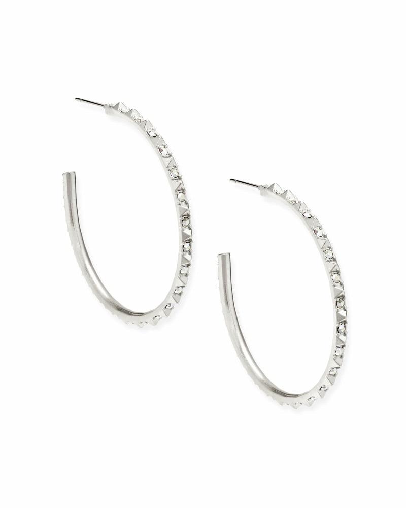 Veronica Hoop Earrings in Silver