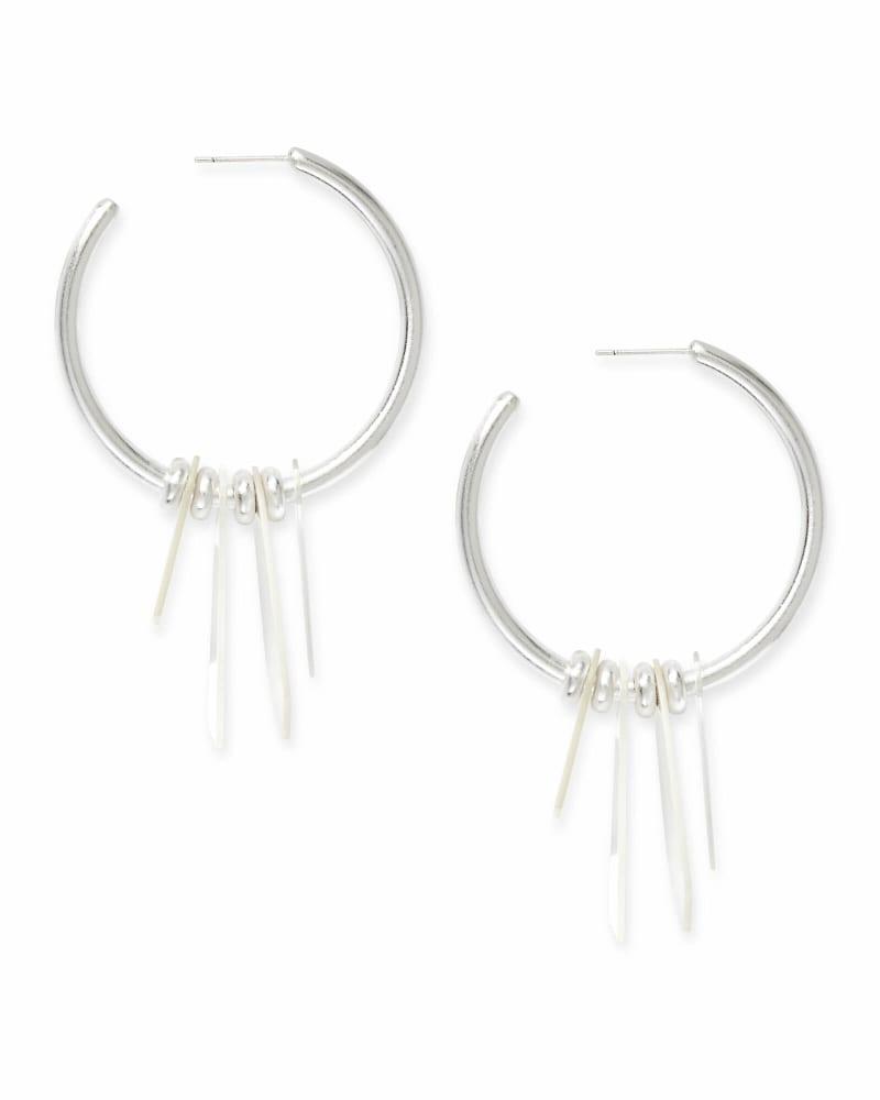 Gaby Statement Earrings in Bright Silver