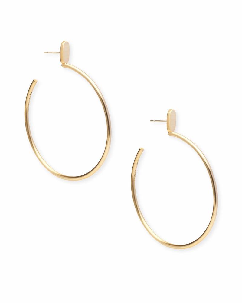 Pepper Hoop Earrings in Gold