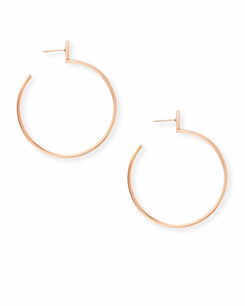 Pepper Hoop Earrings in Rose Gold