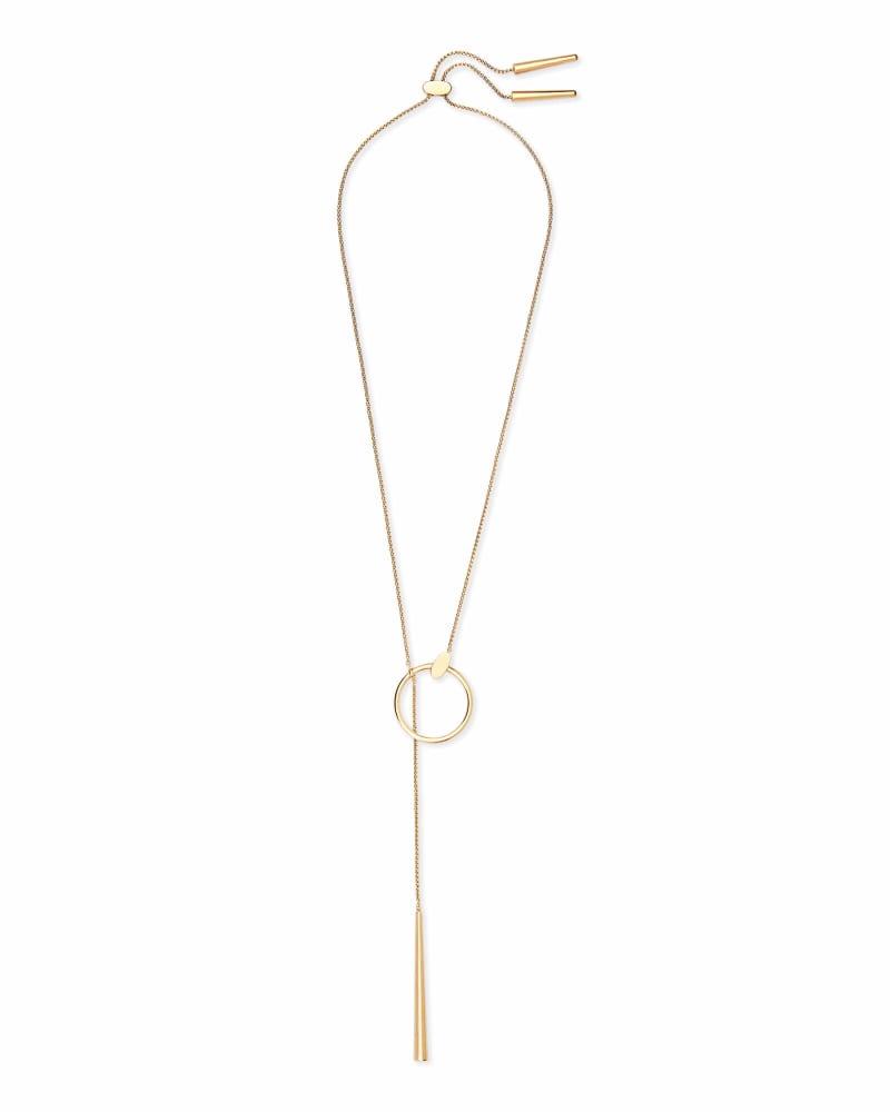 Tegan Y Necklace in Gold