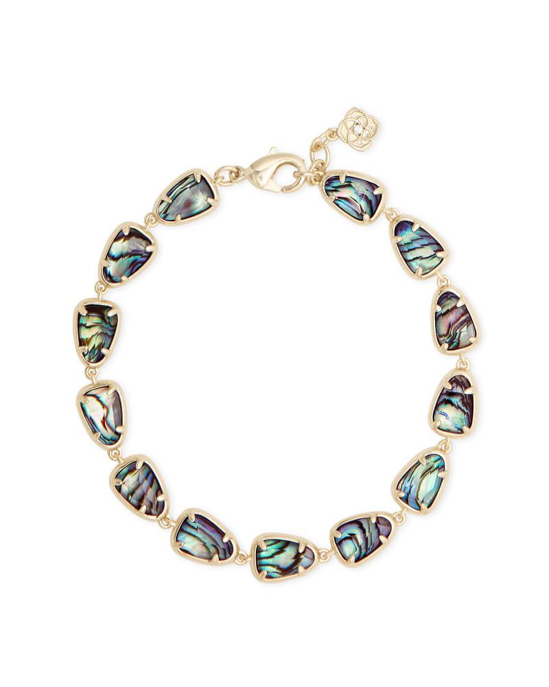 Susanna Gold Link Bracelet in Abalone Shell