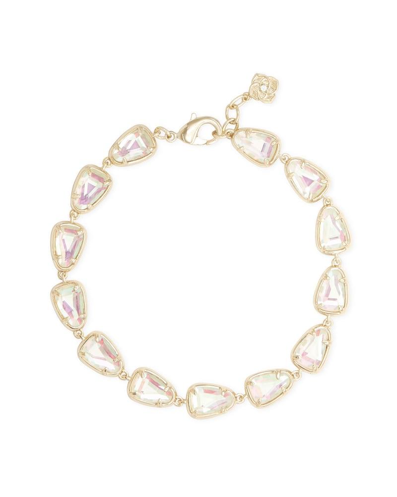 Susanna Gold Link Bracelet in Dichroic Glass   Kendra Scott