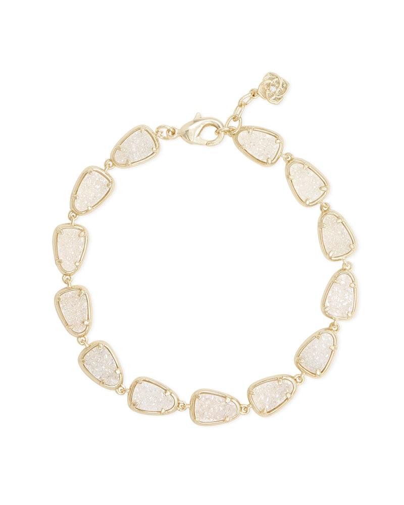 Susanna Gold Link Bracelet in Iridescent Drusy