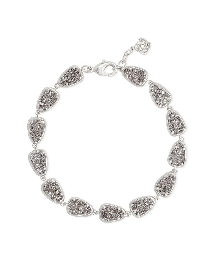 Susanna Silver Link Bracelet in Platinum Drusy
