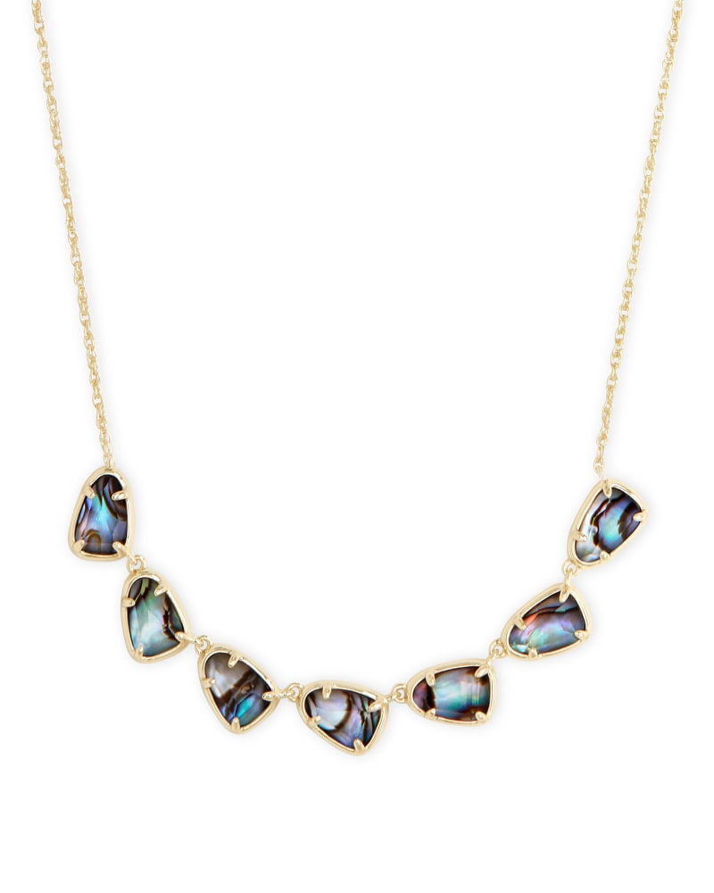 Susanna Gold Collar Necklace in Abalone Shell