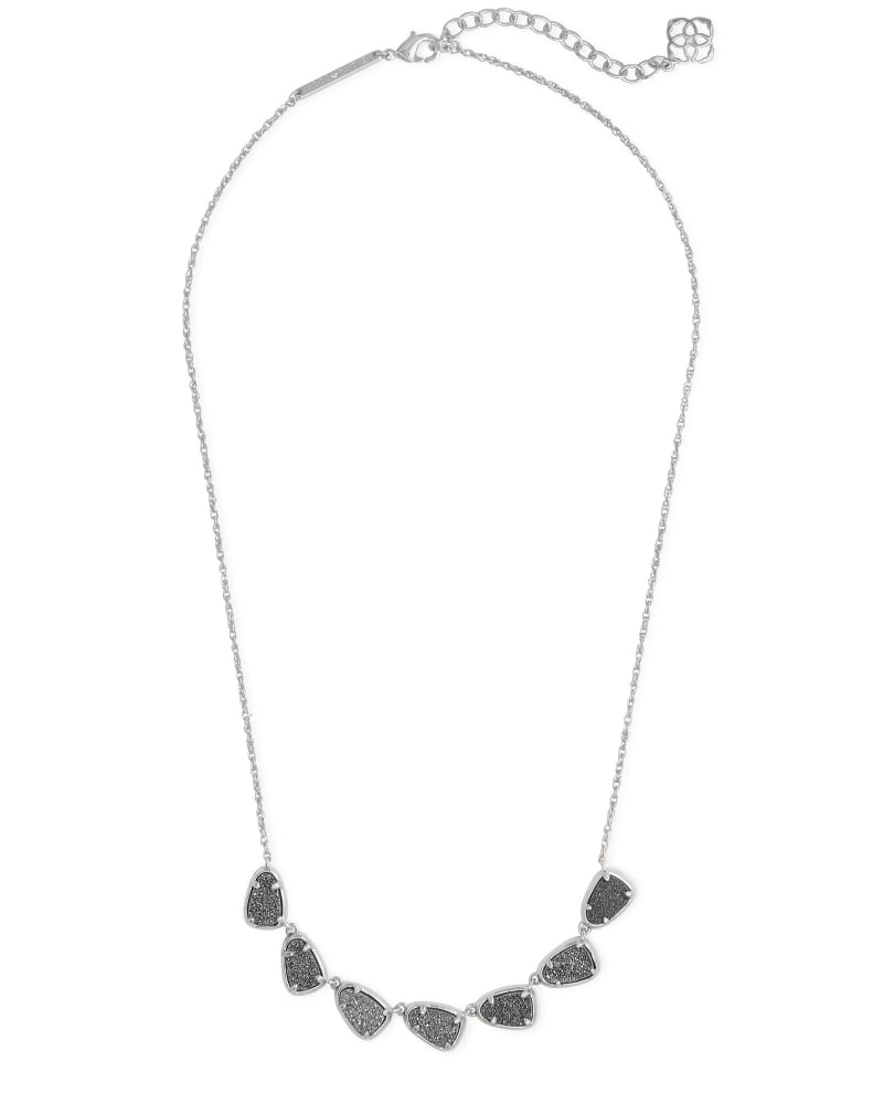 Susanna Silver Collar Necklace in Platinum Drusy