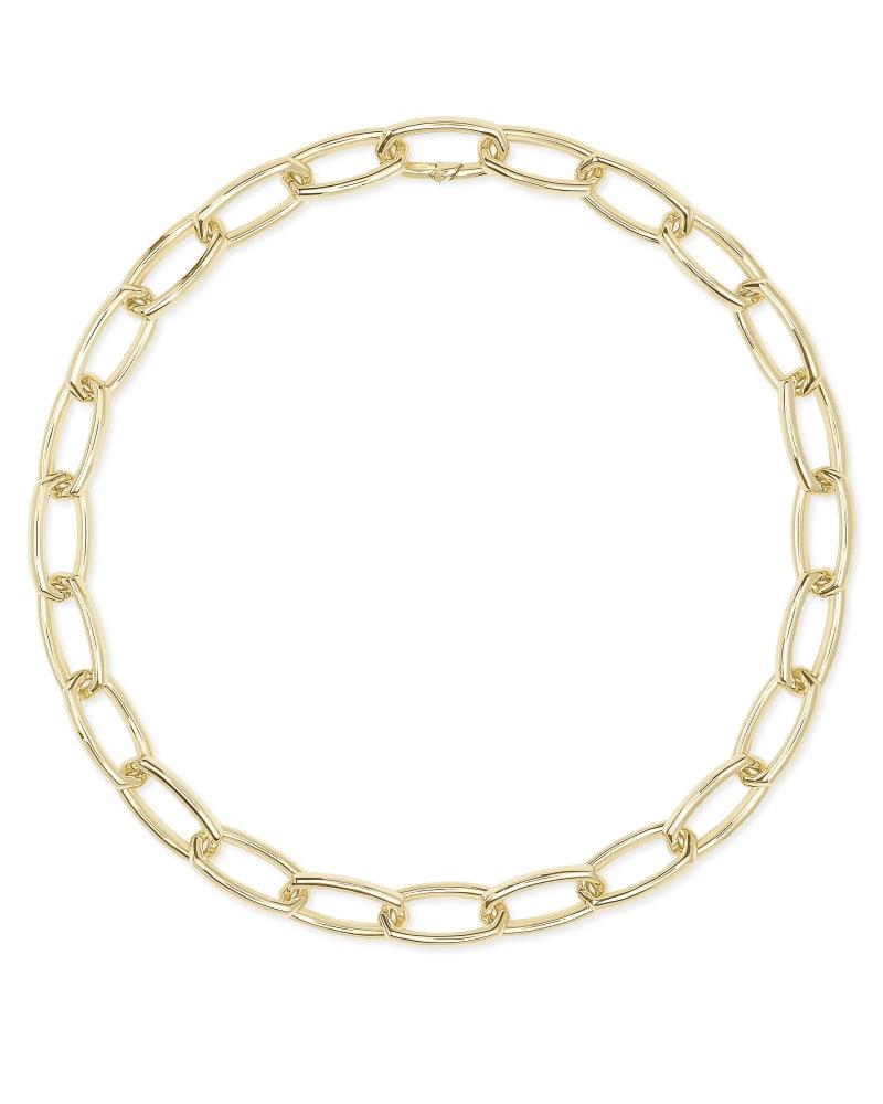 Beckett Statement Necklace in Gold