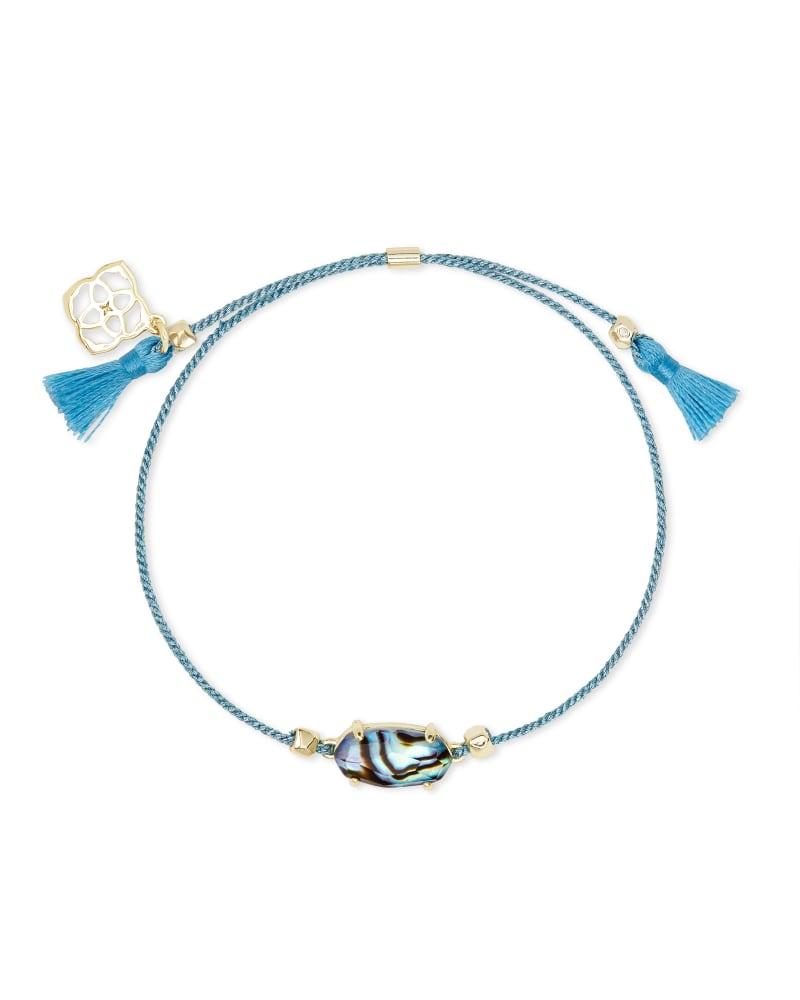 Everlyne Blue Cord Friendship Bracelet in Abalone Shell