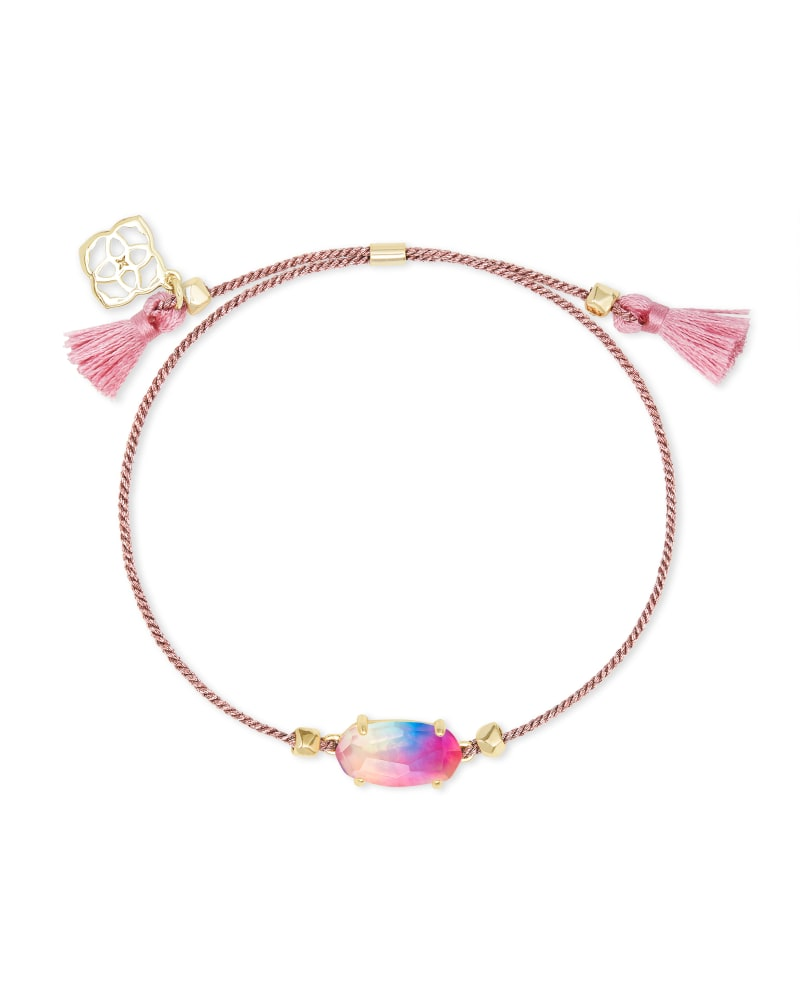 Everlyne Pink Cord Friendship Bracelet in Watercolor Illusion