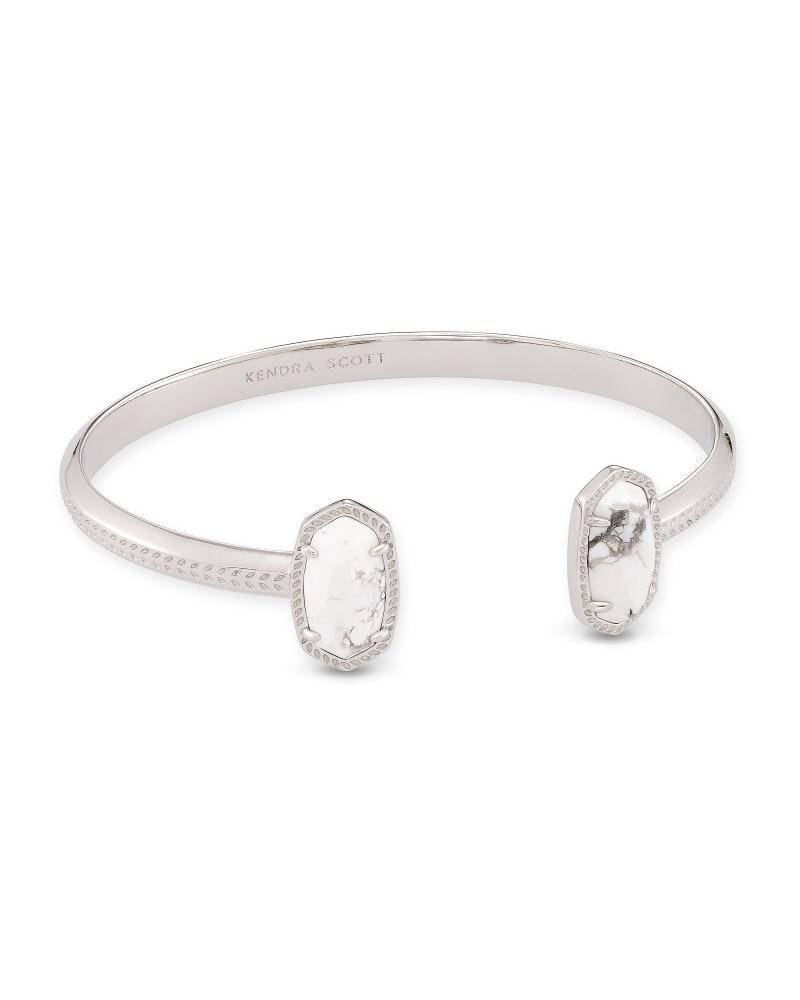 Elton Silver Cuff Bracelet in White Howlite | Kendra Scott