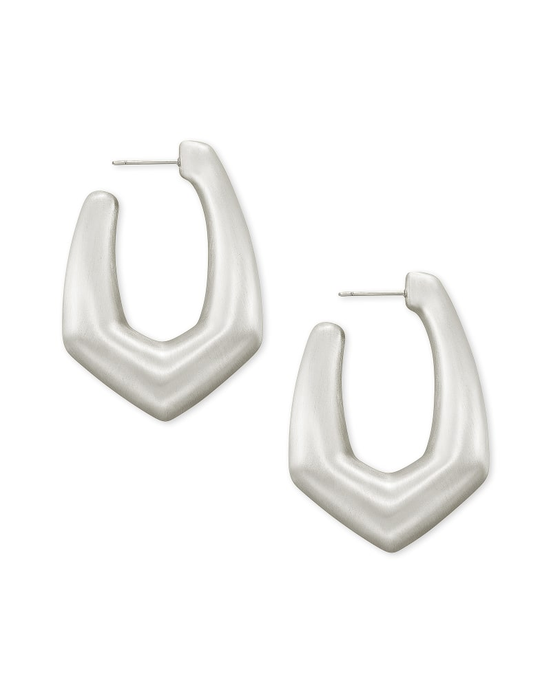 Kaia Hoop Earrings in Silver