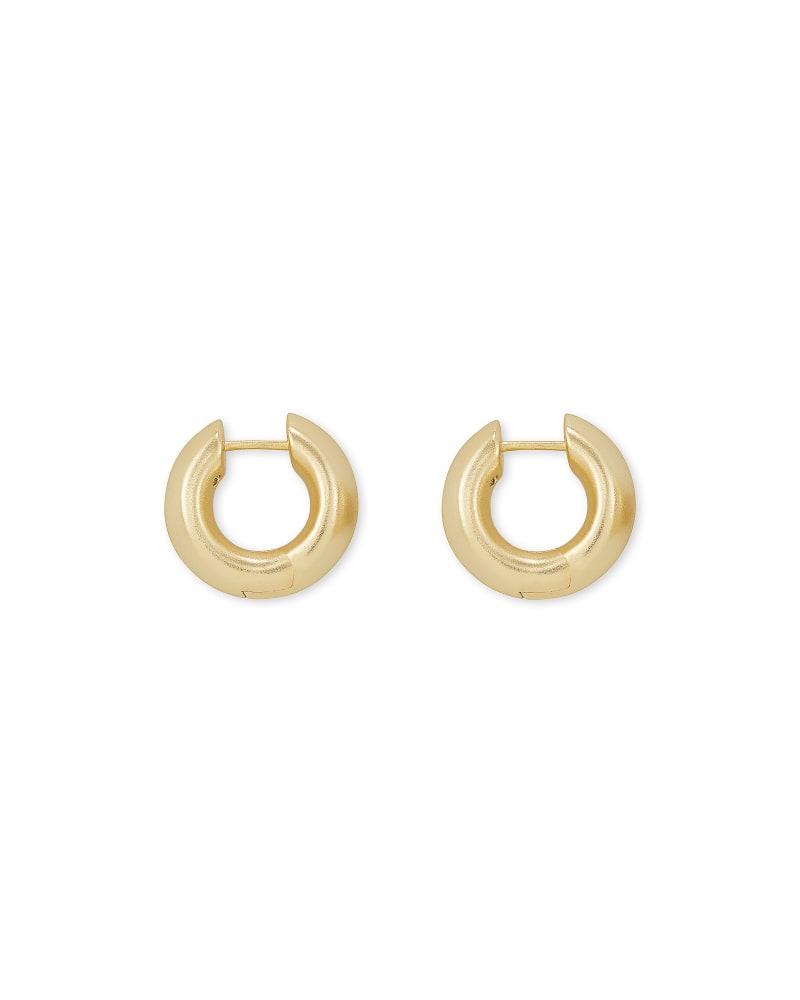 Mikki Huggie Earrings in Gold | Kendra Scott