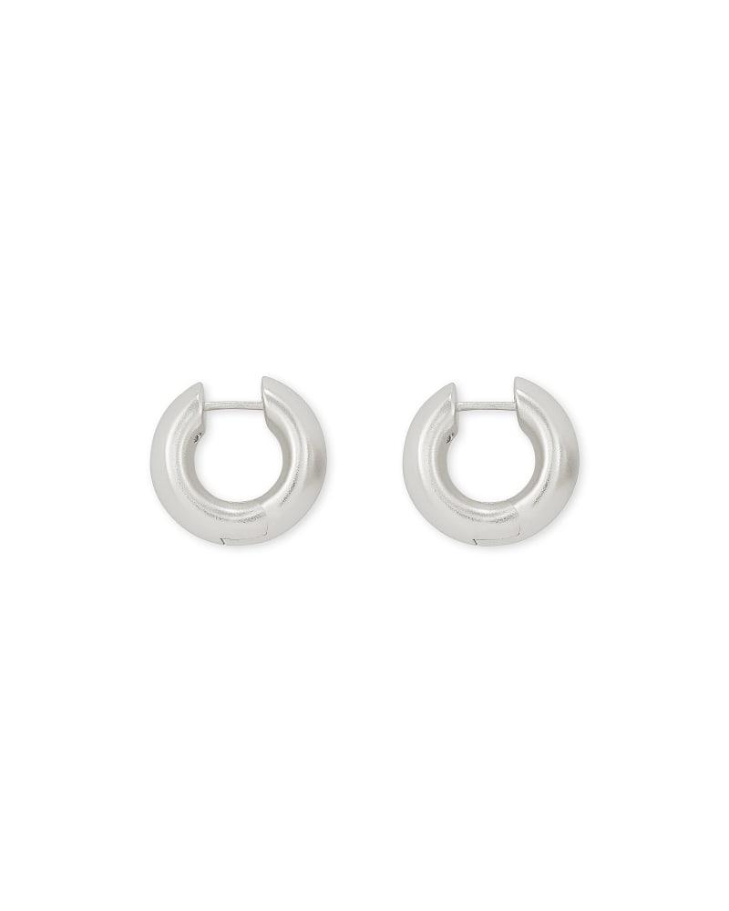 Mikki Huggie Earrings in Silver