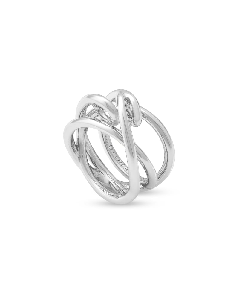 Myles Band Ring in Bright Silver