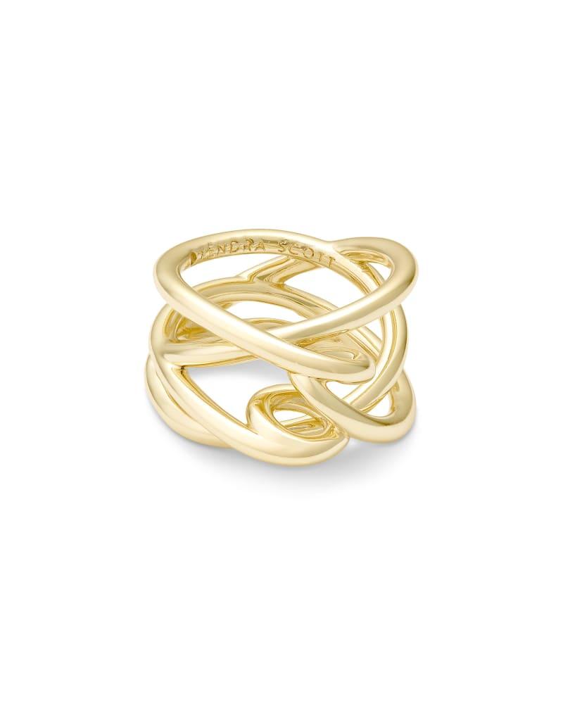 Myles Gold Band Ring | Kendra Scott