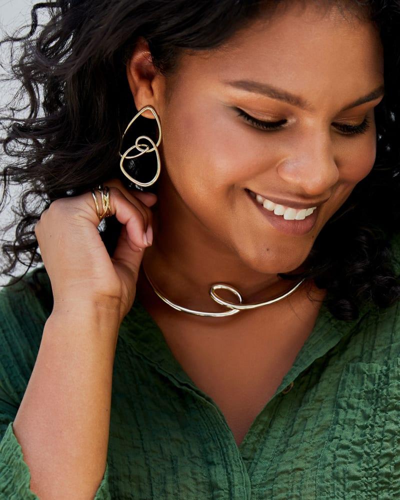 Myles Statement Earrings in Bright Silver