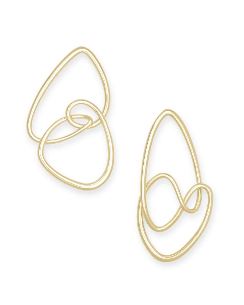 Myles Statement Earrings in Gold