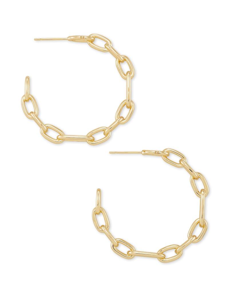 Ryder Hoop Earrings in Gold   Kendra Scott