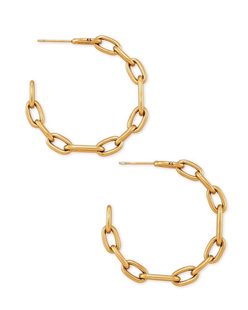 Ryder Hoop Earrings in Vintage Gold | Kendra Scott