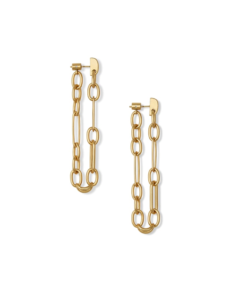 Ryder Linear Earrings in Vintage Gold
