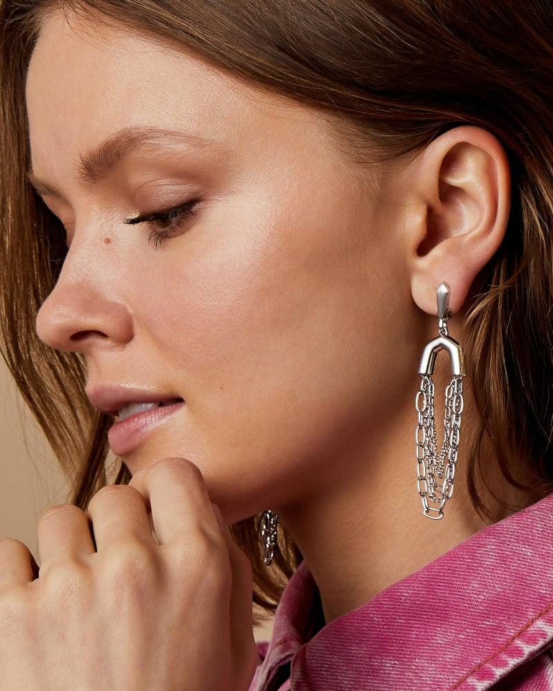 Ryder Statement Earrings in Silver