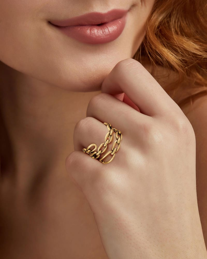 Ryder Wrap Ring in Vintage Gold