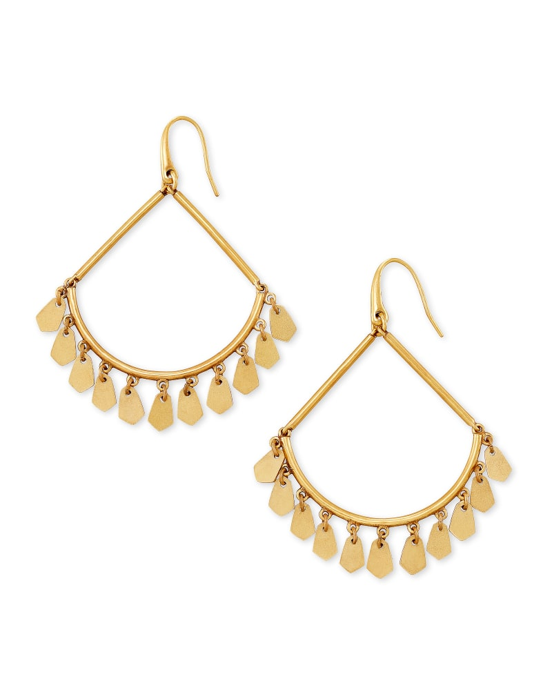 Sydney Drop Earrings in Vintage Gold