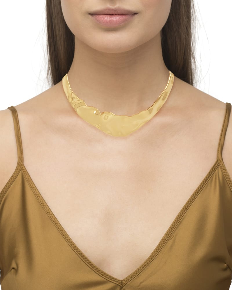 Holland Collar Necklace in Vintage Gold