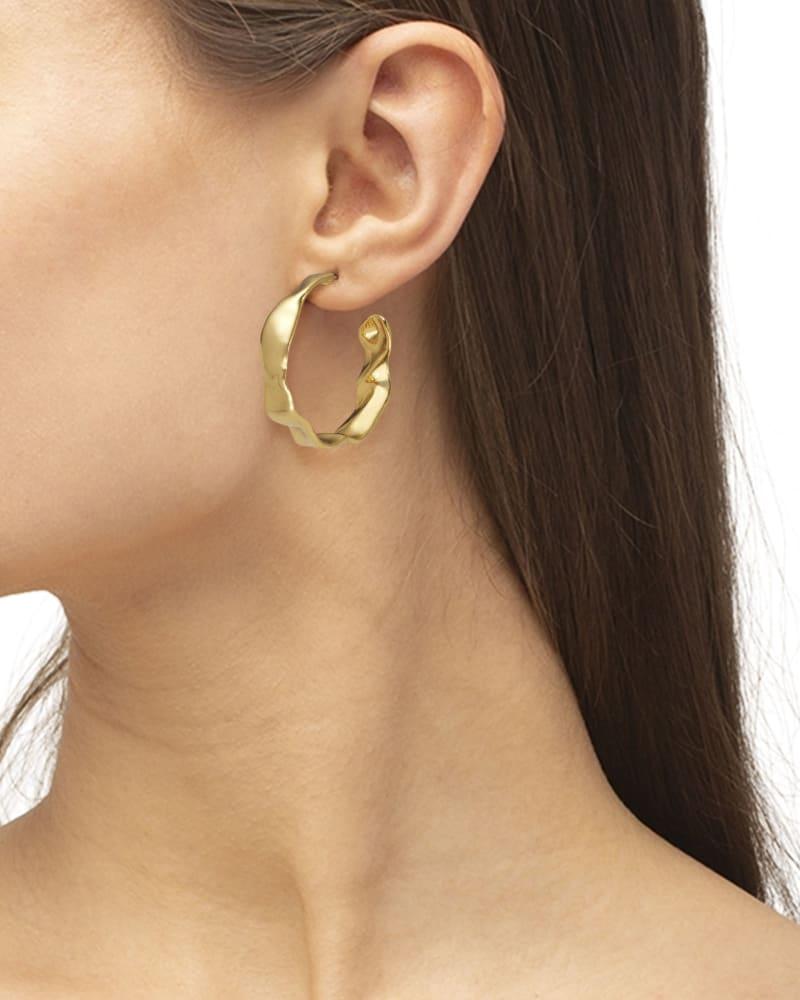 Holland Hoop Earrings in Vintage Gold