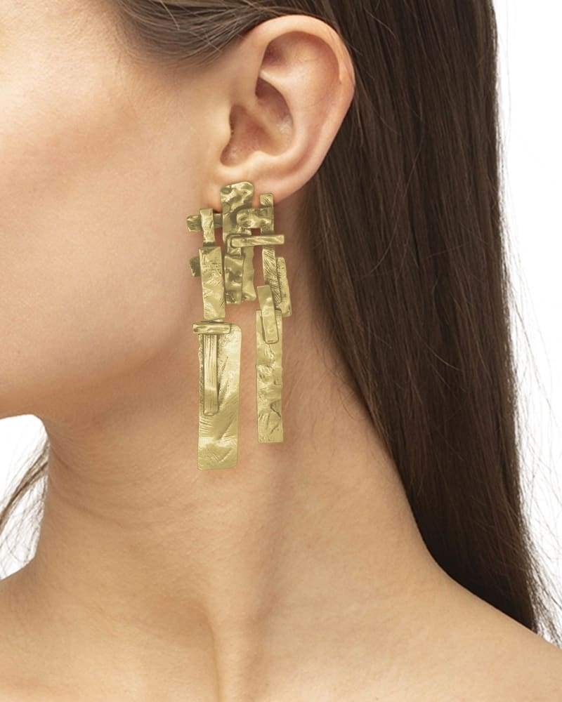 Holland Statement Earrings in Vintage Gold