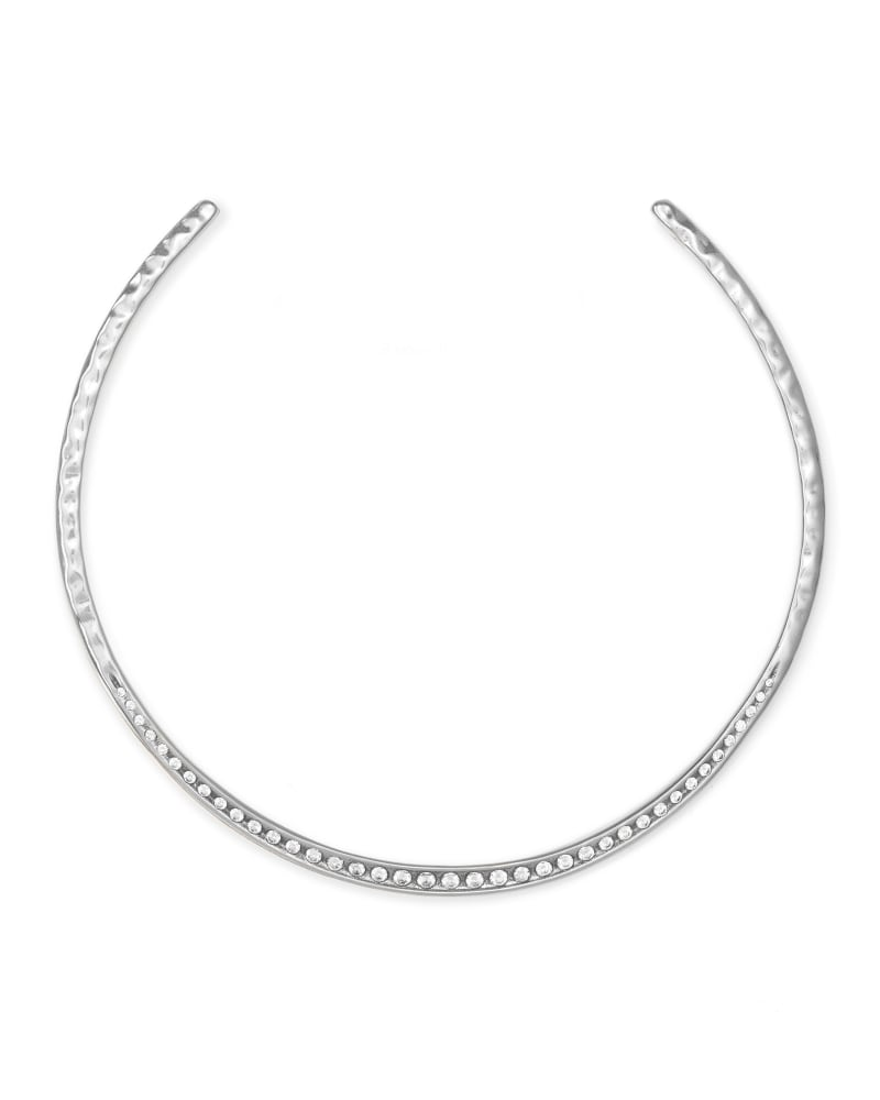 Selena Collar Necklace in Silver